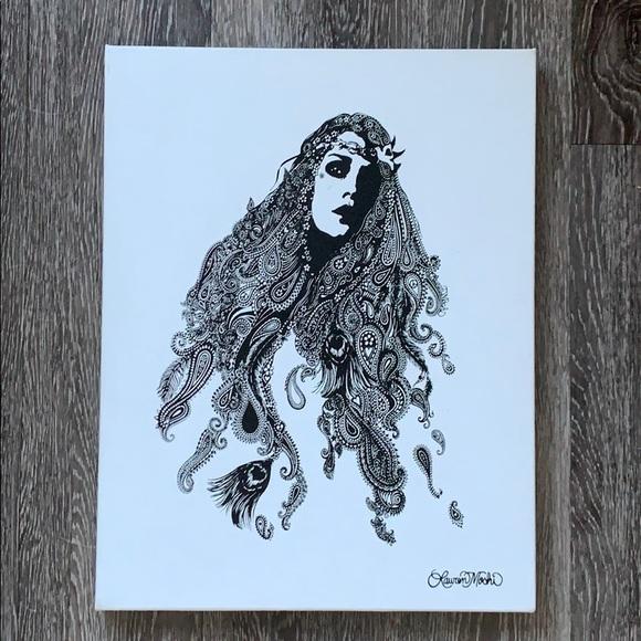 Lauren Moshi Peace Girl Canvas Print